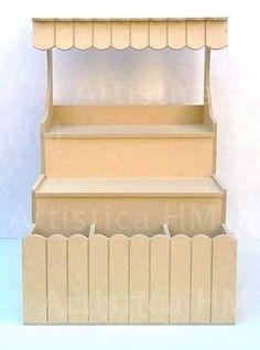 kiosco con toldo, fibrofacil - candy bar - golosinas