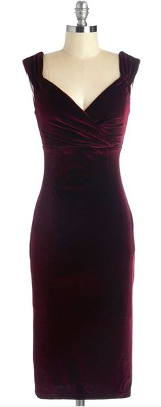 I have not place to wear it, but it's beautiful!   - merlot velvet dress