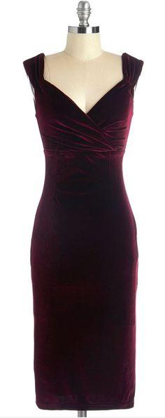 I have not place to wear it, but it's beautiful!   - merlot velvet dress
