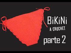Bikini a crochet Parte 2 Bikini Crochet Patron, Bikinis Crochet, Beach Crochet, Crochet Bikini Top, Crochet Girls, Love Crochet, Crochet Lingerie, Crochet Bra, Crochet Bikini Pattern