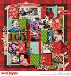Digital Scrapbook Layout using Singleton 57 - Advent template by Brook Magee; Christmas Melodies: Comfort & Joy by Kristin Cronin-Barrow; and Christmas Melodies: Holly Jolly by Kristin Cronin-Barrow (found at Sweet Shoppe Designs)