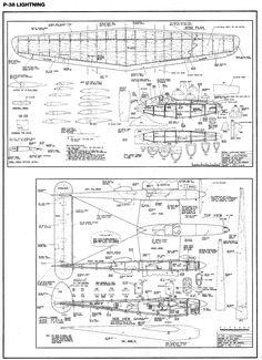 P 38 como aeromodelo