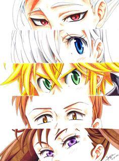 Ban, Elizabeth, Meliodas, King and Diane.