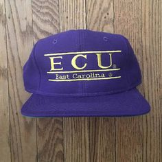 White NCAA East Carolina Pirates Unisex NCAA The Game bar Design Hat Adjustable