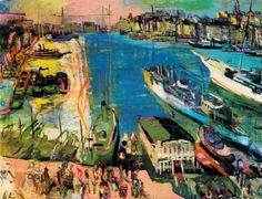 The Harbour of Marseille  -   Oskar Kokoschka 1925   Austrian 1886-1980