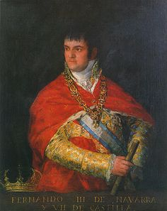 Fernando VII, por Goya, 1810, Diputación Foral de Navarra Fernando Iii, Painting, Historia, Artists, Painting Art, Paintings, Drawings