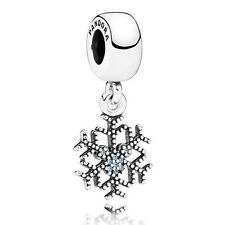 Authentic Pandora Sterling Silver Bead-Disney Mickey's Sparkling Snowflake 79146
