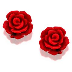 Inspiration for HER Silver Red Rose Earrings 10mm 060396 (17 CAD) ❤ liked on Polyvore featuring jewelry, earrings, accessories, red, studs, red earrings, red jewelry, silver earrings, silver rose jewelry and silver jewellery