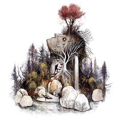 """2,270 次赞、 25 条评论 - Julia Iredale (@julia_iredale) 在 Instagram 发布:""""Treasure Island  prints now available at society6.com/juliairedale #illustration #illustrationage…"""""""