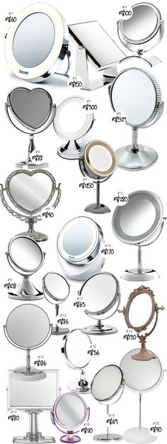 Coisas De Diva » 20 opções de espelhos de mesa para maquiagem!