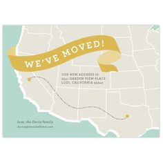 On the Move moving announcement by Jill Means, available on Brightside Prints