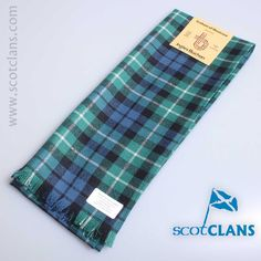 Pure wool scarf in Graham of Montrose Ancient tartan - available from ScotClans