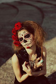 dia de los muertos hairpiece