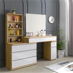 Bedroom Furniture Design, Girl Bedroom Designs, Living Room Designs, Dressing Table Design, Dressing Table Vanity, Home Bedroom, Room Decor Bedroom, Walk In Closet Design, Bathroom Design Small