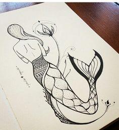 Ideas Cute Art Drawings Pencil Artists For 2019 Doodle Art Drawing, Girl Drawing Sketches, Art Drawings Sketches Simple, Pencil Art Drawings, Cool Drawings, Pencil Drawings Tumblr, Unique Drawings, Beautiful Drawings, Mermaid Drawings