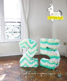 How to Make a Number Pinata | Oh Happy Day!
