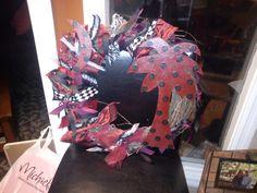 South Carolina Gamecock wreath. $45.00, via Etsy.