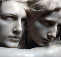 """L'abisso"" (The Abyss) ... by Pietro Canonica - Detail 1869. Emotion forever cast into stone."