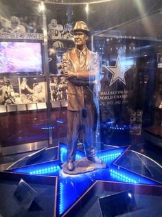 Tom Landry statue; former head coach of Dallas Cowboys and a great innovator in the game of football