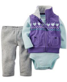 Carter's Baby Girls' Vest, Pants and Bodysuit 3-Piece Set