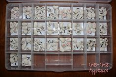 Criss-Cross Applesauce: DIY Montessori Moveable Alphabet. Write letters on lima beans. Black for consonants and red for vowels