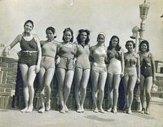 The bathing beauties of the Cotton Club Revue, 1930s.