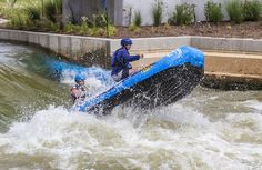 https://flic.kr/p/KXYnBg | Keeping Control | Rafting down the rapids at the Riversport whitewater rapids complex in Oklahoma City.