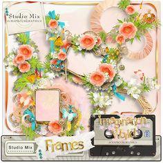"""""""Imagination World - Frames""""  http://shop.scrapbookgraphics.com/Studio-Mix-50-Imagination-World-Frames.html"""