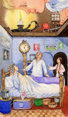 Debra McFarlane Illustration of 'The Borrowers' for the Christmas 2008 issue of the Radio Times.