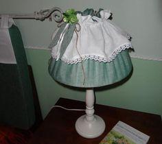 Lampada Country color verde per il casale di Antonella :)