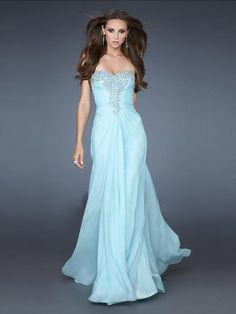 Sleeveless Beading Sweetheart Floor-Length Sheath/Column Chiffon Prom Dress
