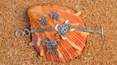 Ornate Sterling Silver Turtle Earrings, Pendant and Bracelet