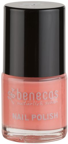 "Benecos Nail Polish - Peach Sorbet is a beautiful pastel creamy peach shade reminiscent of hot summer days eating sorbets. Benecos offers a colourful nail polish range called ""Happy Nails"". Although Benecos nail polishes are not 100% natural they are less harmful than many other conventional nail polishes & varnish. Benecos Nail Polishes offer a real alternative for health conscious people. Free from toluene, formaldehyde, camphor, phthalates, colophonium/colophony. Vegan."