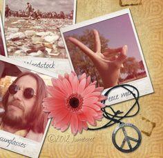 70's polaroid collage wallpaper