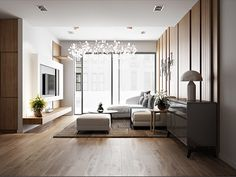 A Tour Of 4 Homes With Comfortable Wood Wall Treatments Home Design, Wood Interior Design, Modern Interior, Home Living Room, Apartment Living, Living Room Designs, Living Spaces, Hotel Restaurant, Living Room Inspiration
