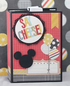 "I told you there were more Disney things coming!!  This is another mini album the cover is 4.5""x6.5"" the pages are 4.25x6.25 and the cut a ..."