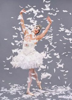 The Trocks' Paul Ghiselin (a.k.a. Ida Nevasayneva) always brings down the house as the forever molting Dying Swan.