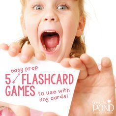 No prep games for flashcards - sight words, numbers, letters and sounds Teaching Sight Words, Teaching Music, Teaching Resources, Classroom Activities, Classroom Ideas, Flashcard Games, Up Teacher, Sight Word Flashcards, Content Area
