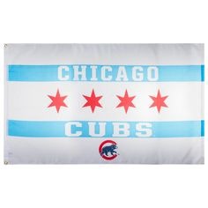 Chicago Cubs Chicago Flag by Wincraft #Chicago #ChicagoCubs #Cubbies #Cubs #ChicagoFlag