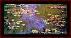 Waterlilies, 1919 - Monet Fine Art counted cross stitch pattern by Cross Stitch Collectibles