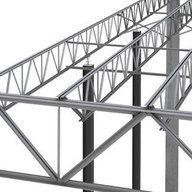 JOISTEC® es un Sistema Constructivo para obtener grandes luces de hasta 26 mt entre marcos, con estructuras más livianas y económicas. Utiliza vigas de alma abierta, formadas por perfiles ángulo laminados en caliente, de acero reciclado, producidos por Gerdau, los únicos pensados para el sistema constructivo JOISTEC®. Truss Structure, Steel Structure Buildings, Steel Trusses, Roof Trusses, Steel Girder, Civil Engineering Construction, Steel Frame, Metal Working, Beams