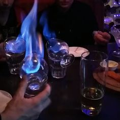 Flaming Sambuca - We are pretty sure that fire is extremely addicting, specially when you discover these awesome cock - Cocktail Party Food, Cocktail Drinks, Cocktail Recipes, Cocktails, Drinks Alcohol Recipes, Alcoholic Drinks, Flipagram Instagram, Cocktail Videos, Alcohol Aesthetic