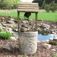 Sunnydaze American Wishing Well Outdoor Fountain- Free Shipping