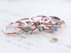 Hey, I found this really awesome Etsy listing at https://www.etsy.com/listing/273769374/raw-opal-ring-stacking-ring-opal-ring