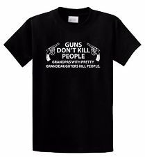 Guns Don't Kill People -DADD Funny Gun T-Shirt,Grandpa,Granddaughter,Grandfather | http://www.cbuystore.com/page/viewProduct/10063559 | United States