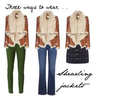"""""""Three Ways to Wear: Shearling Jackets"""" by fashionloveronlee on Polyvore featuring Kenzo, Mason by Michelle Mason and Levi's"""