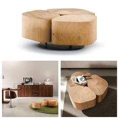 Riva 1920, made in Italy in solid wood: Tobi 3 coffee table, project by Terry Dwan.