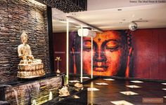 Buddha Decor, A N Wallpaper, Interior And Exterior, Living Room Designs, House Plans, Modern, Inspiration, Painting, Master Bedroom