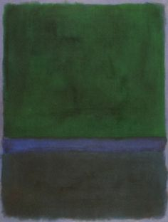 dailyrothko: Mark Rothko, Untitled (Greens and Blue on Blue)