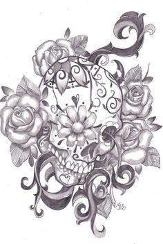 LOVE sugar skull tattoos